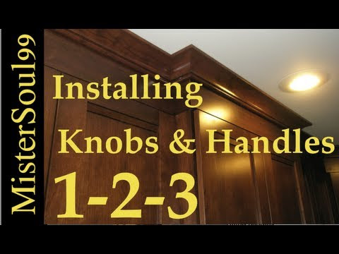 How to Install Knobs and Handles on cabinets - YouTube