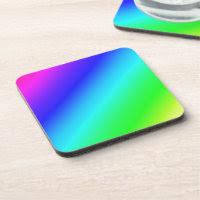 Colorful Diagonal Stripes – 1 Beverage Coasters