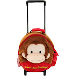 Animal Adventure Curious George Trolley Backpack, Kids Unisex, Size: Small, Brown