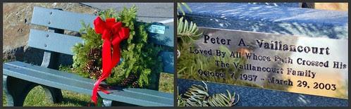 Vaillancourt Memorial Bench & Wreath