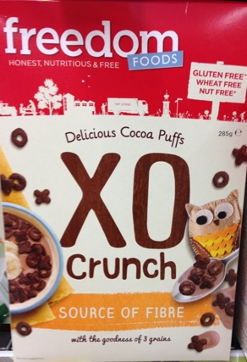 Freedom Gluten Free XO Crunch Cocoa puffs Review - Review Clue