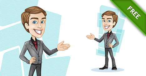 Stylish Vector Businessman - Vector Characters