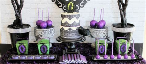 Kara's Party Ideas Maleficent Inspired Dessert Table