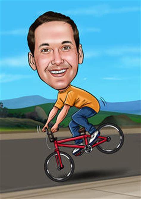 cycling bill  ben  cartoon men caricatures