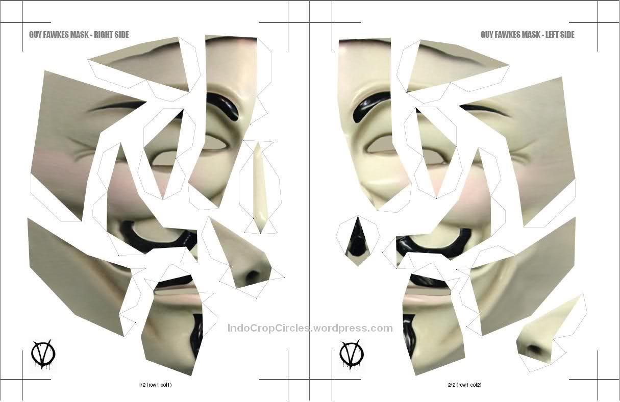 Cara Membuat Topeng Guy Fawkes Anonymous Wahyu Setyawan