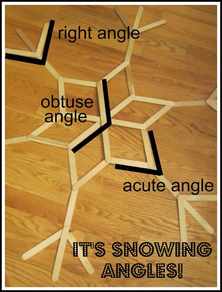 Relentlessly Fun, Deceptively Educational: It's Snowing Angles!