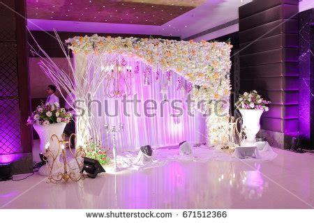 Wedding Decoration Element Lights Entrance Gate Stock