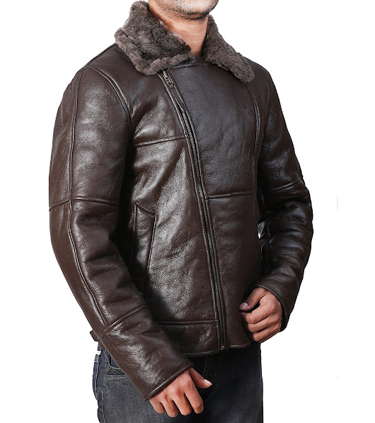 B3 Bomber Dark Brown Leather Jacket For USA, UK, Canada & Australia