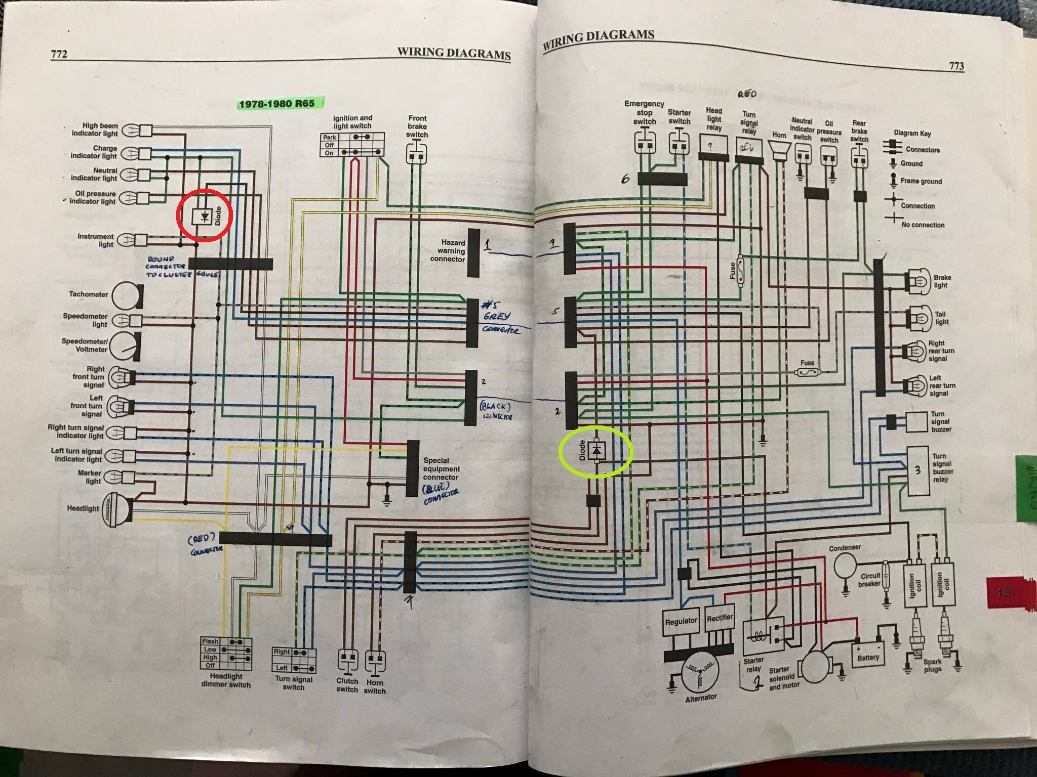 99 Schema Electrique Moto Bmw R65