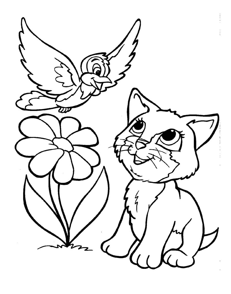 Kitten Coloring Page - Futpal.com