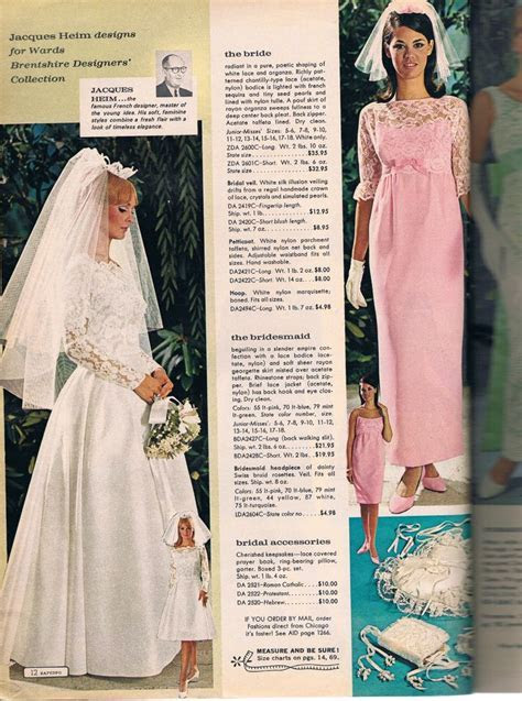 Wards catalog 60s   lingerie ads   Wedding dresses, Blue