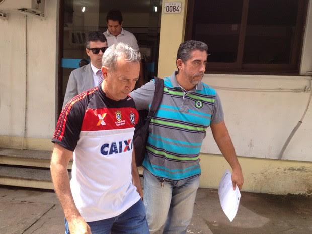 Promotor foi levado para exames na Politec de Macapá (Foto: Abinoan Santiago/G1)
