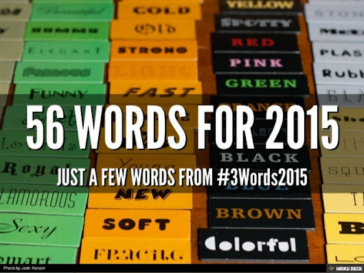 56 Words for 2015