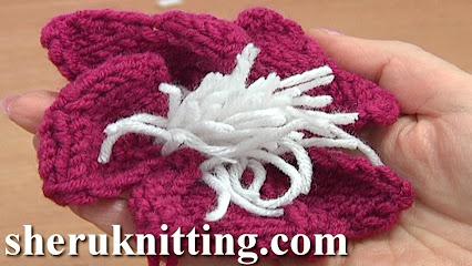 Crochet Flower Tutorial Sheru : SHERU FASHION Knitting & Crochet - Knitted Flowers ...
