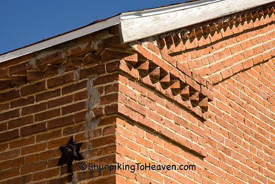 Decorative Brickwork on Old Town Hall, Green County, Wisconsin