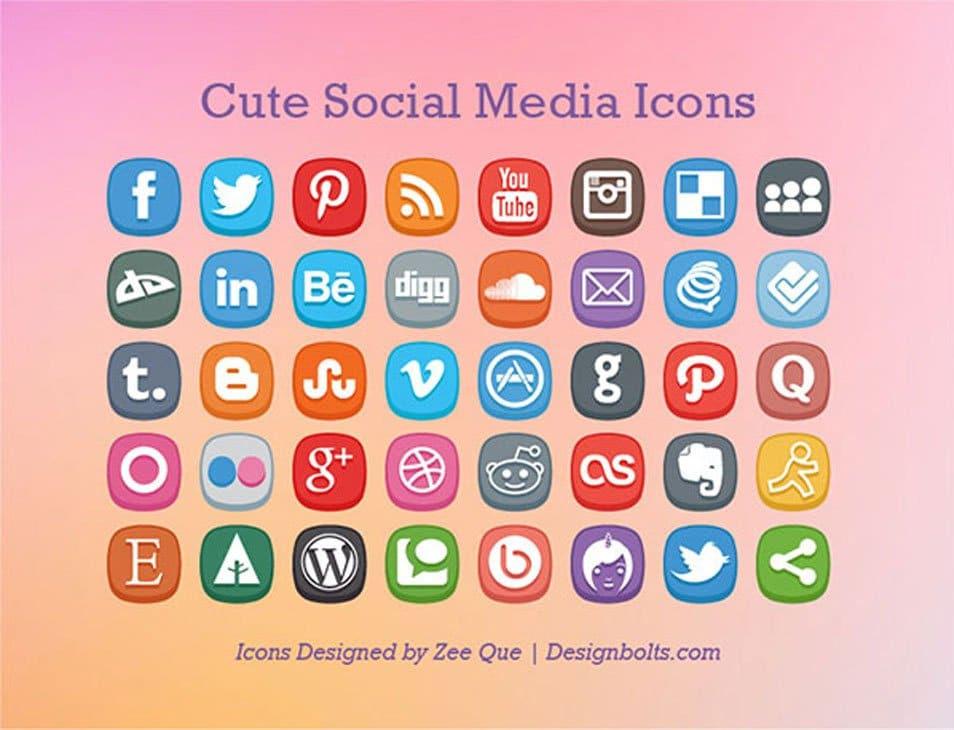 Free Cute Social Media Icons
