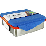 New Wave Enviro Products Kid Basix Safe Snacker Stainless Steel Lunchbox Container Blue 23 oz.