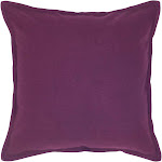"""20""""x20"""" Solid Throw Pillow Purple - Rizzy Home"""