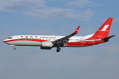 Shanghai Airlines Boeing 737-86N WL B-5691 (msn 39402) PEK (Michael B. Ing). Image: 911926.