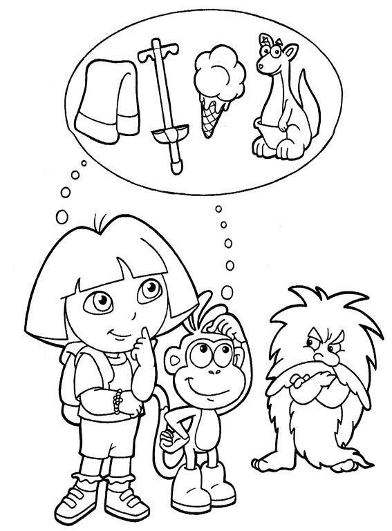 Juegos De Dora La Exploradora Para Colorear Botas Dora