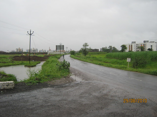 View of road from Elite Homes' gate
