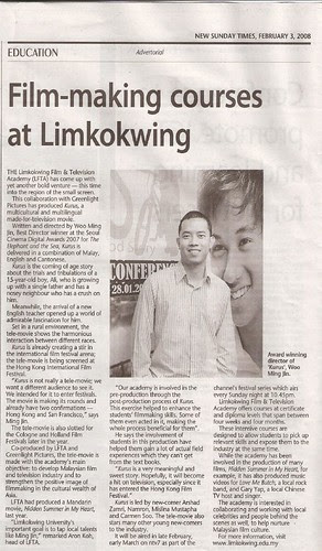 Ming Jin and KURUS mentioned in New Sunday Times