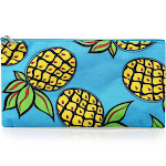 "Zodaca Pencil Case Cosmetic Makeup Pouch Bag for Camping Hiking Backpacking Travel (Size: 10""W x 5.5""H) - Pineapple"