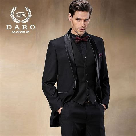 Brand DAROuomo Groom Wear Tuxedos Groomsmen Wedding Suits