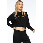Sub_Urban Riot | Good As Gold Dakota Crop Hoody | Black