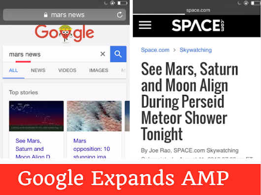 Google Expands AMP In Search Results: What's In It For SEO? | Bosmol Social Media News