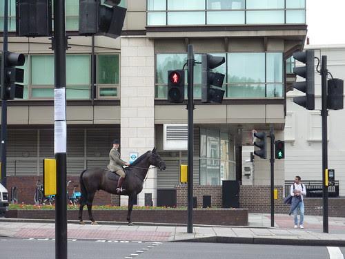 Horse on London street