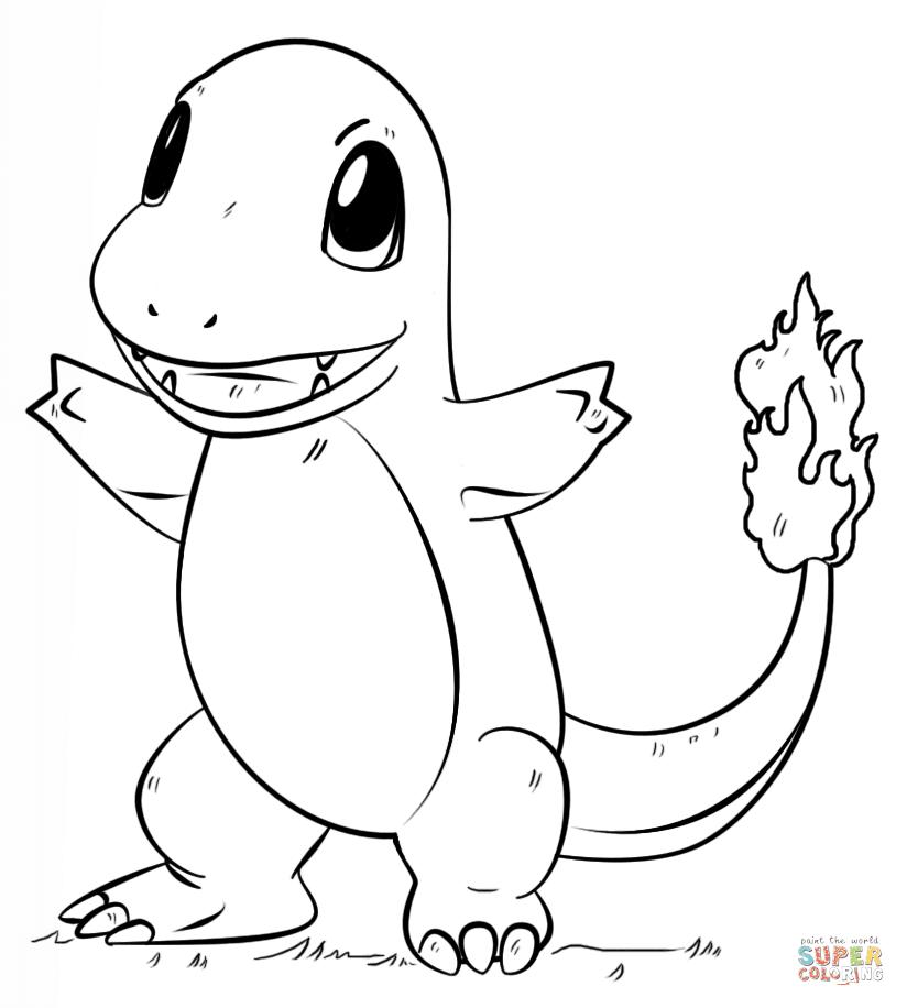 ausmalbilder pokemon glurak  coloring and drawing