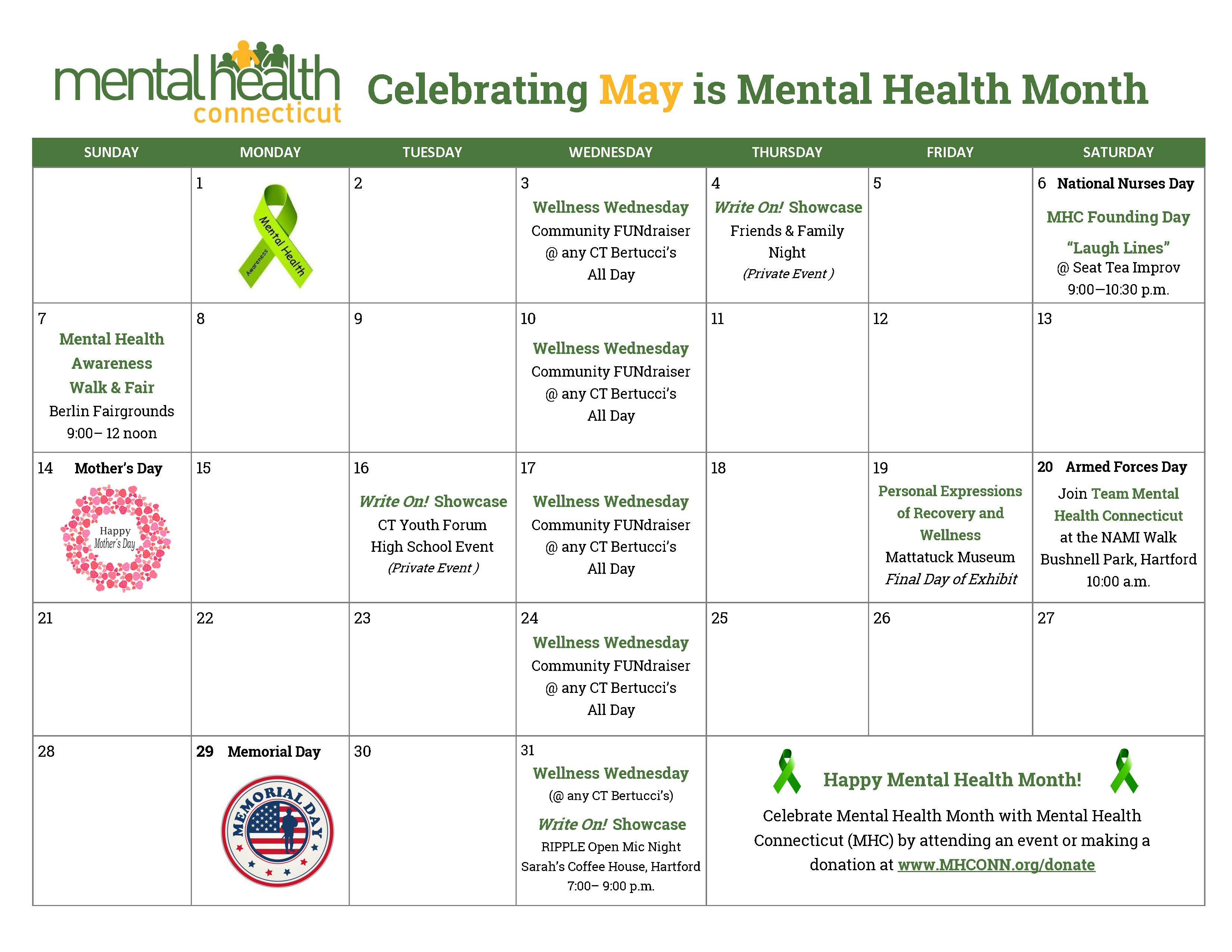 Mental Health Month - Mental Health Connecticut