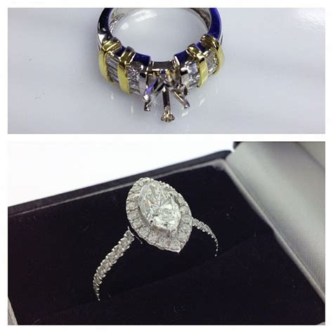 Redesign: Marquise Diamond Halo Engagement Ring     Samuel
