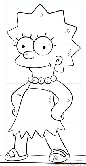 Cómo Dibujar A Lisa Simpson Tutorial De Dibujo Paso A Paso