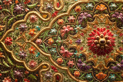 zari work: The art of zari work on textiles and fabric
