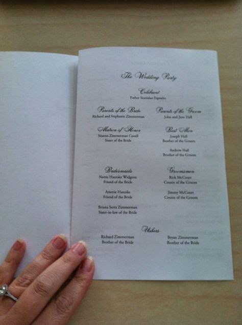25  best ideas about Wedding Program Templates on