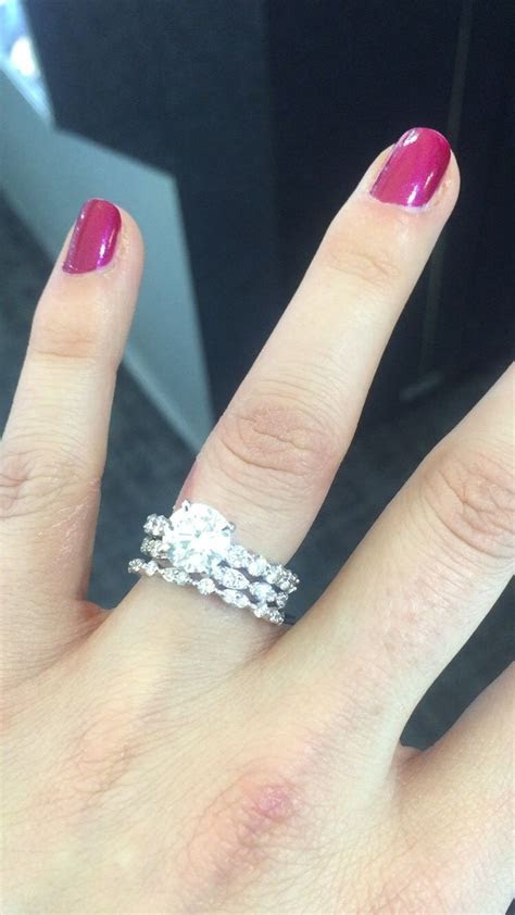 My Stacked mismatched wedding bands ? ?   rings on rings