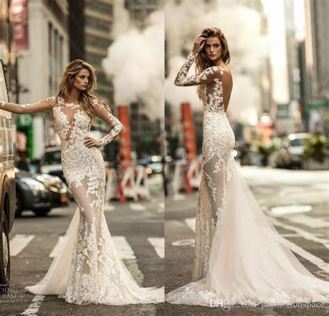 Berta Fall 2017 Mermaid Wedding Dresses Long Sleeves