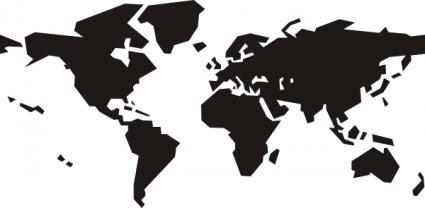 世界地図クリップ アート ベクトル クリップ アート 無料ベクトル 無料で