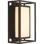 Artika Medium Ghost Bronze Outdoor Integrated LED Wall Mount Lantern