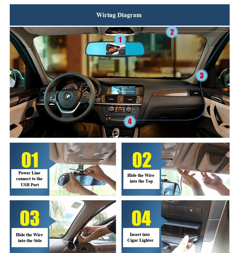 ROGA LX51S Factory Directly supply 5 inch automotive dual lens dvr unique car rearview mirror dvr with speed cam GPS navigation