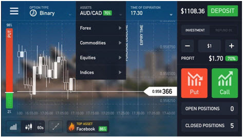 Mobile Applications for Binary Options Trading: Case Study
