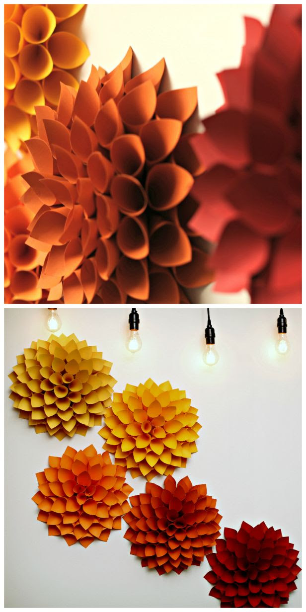 21 Extraordinary Smart DIY Paper Wall Decor That Will Color Your Life homesthetics design 7 20 Extraordinary Smart DIY Paper Wall Decor [Free Template Included]