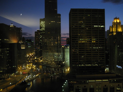 Chicago from our room - niiiiiice!