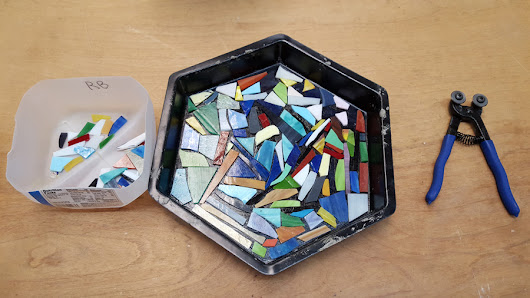 How to Make a Stepping Stone with Scrap Glass