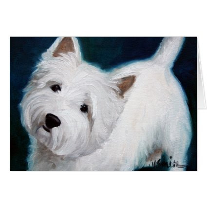 Westie West Highland Terrier Dog Card