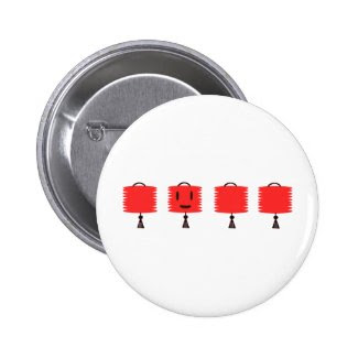Happy Red Lanterns Buttons