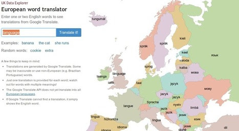 Try out 30 European languages on an interactive map