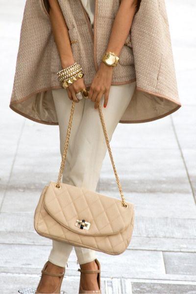 cape coat + bangles